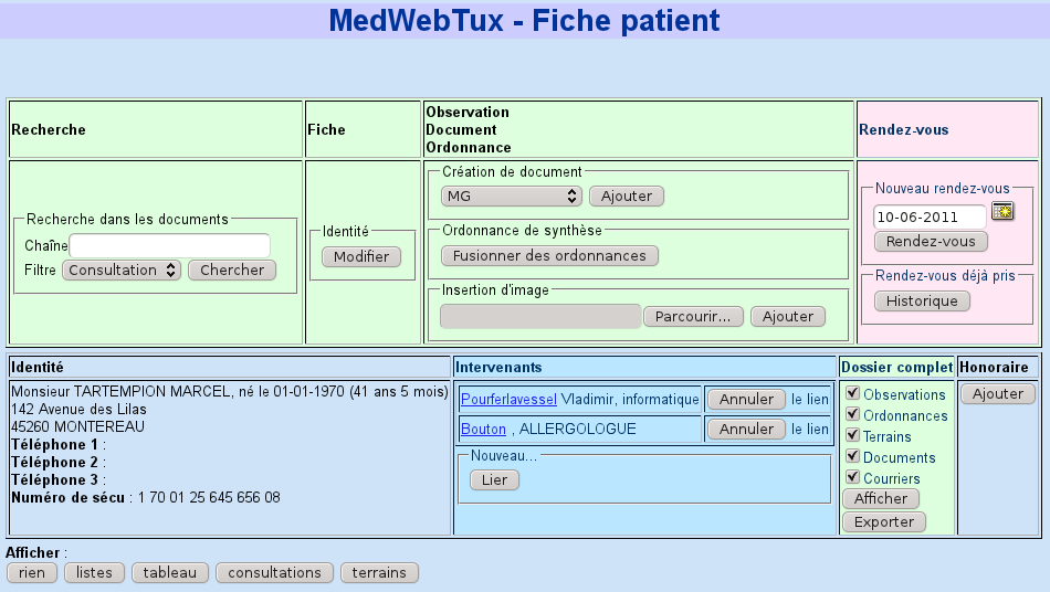 Medwebtux Documentation